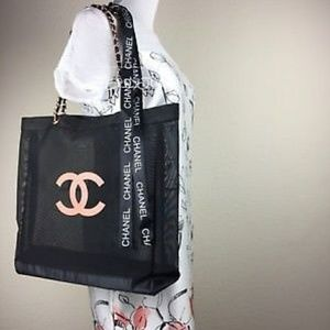 Final sale NO OFFERS Chanel rose  shopping tote
